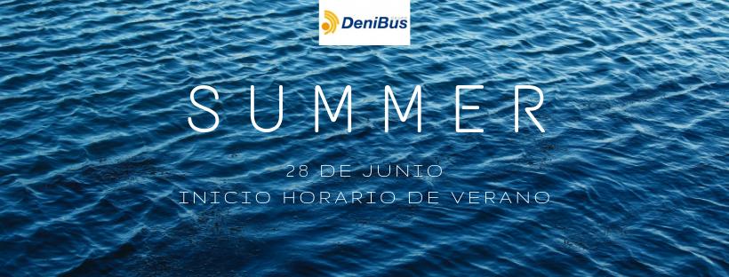 Líneas regulares: inicio del horario de verano